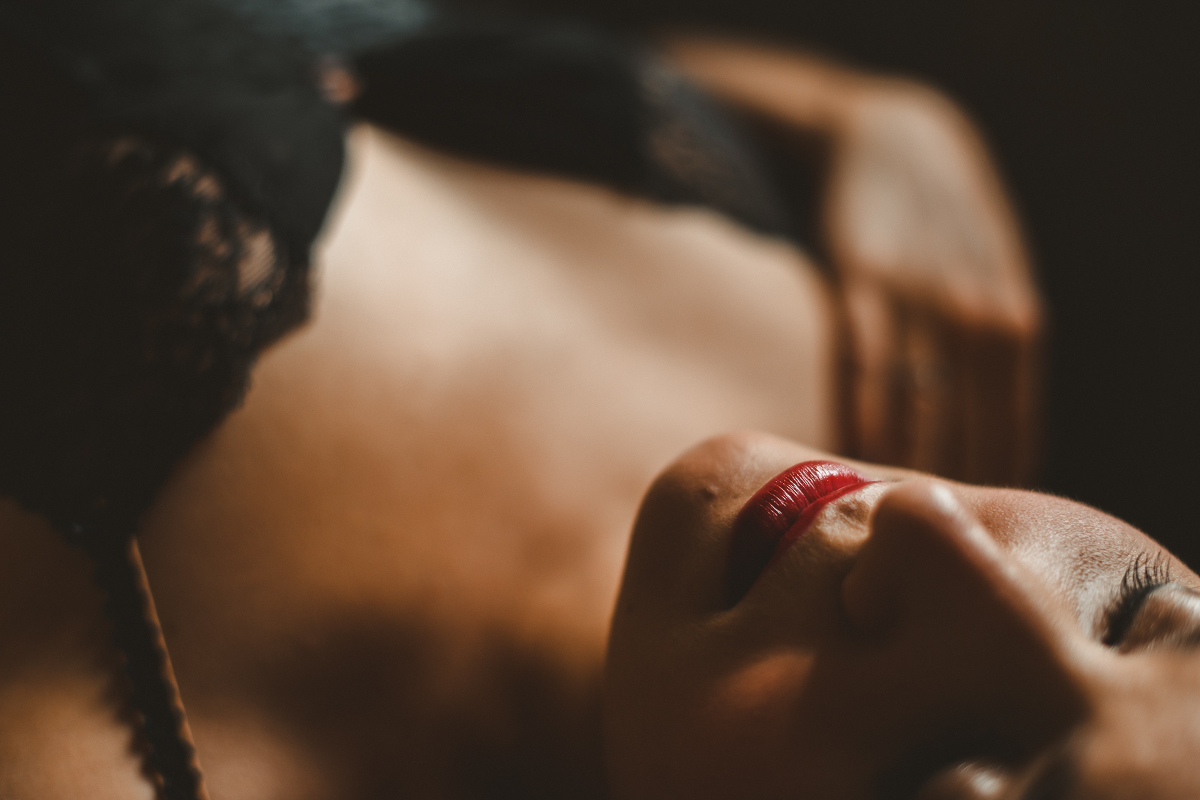 bouche rouge sexy